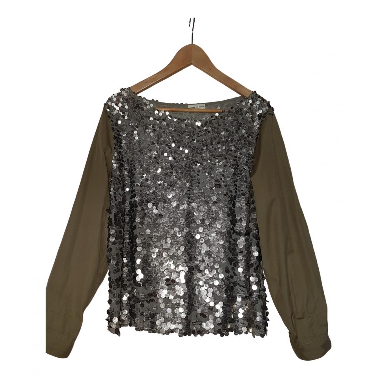 Dries Van Noten \N Khaki Silk  top for Women 42 FR