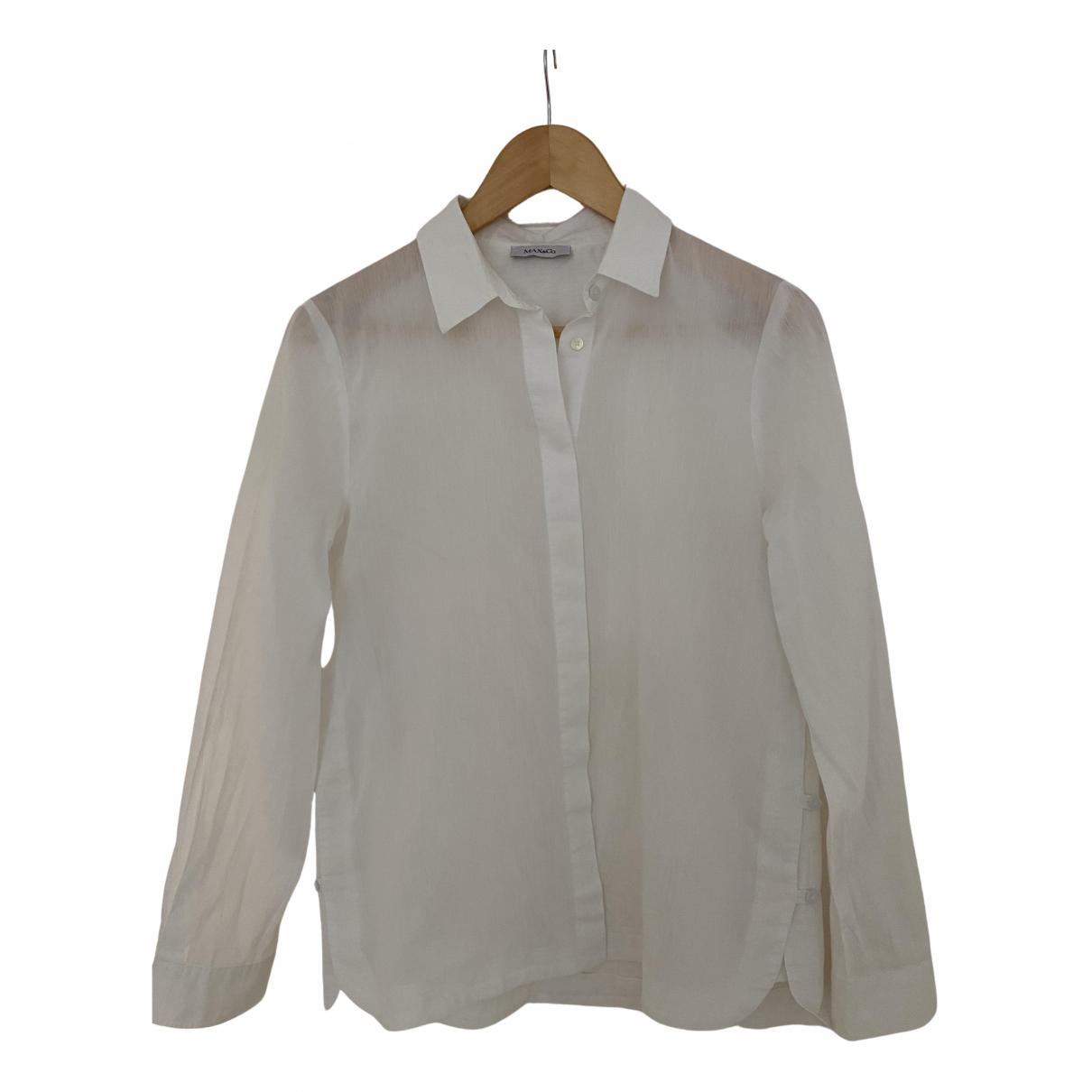 Max & Co - Top   pour femme en coton - blanc