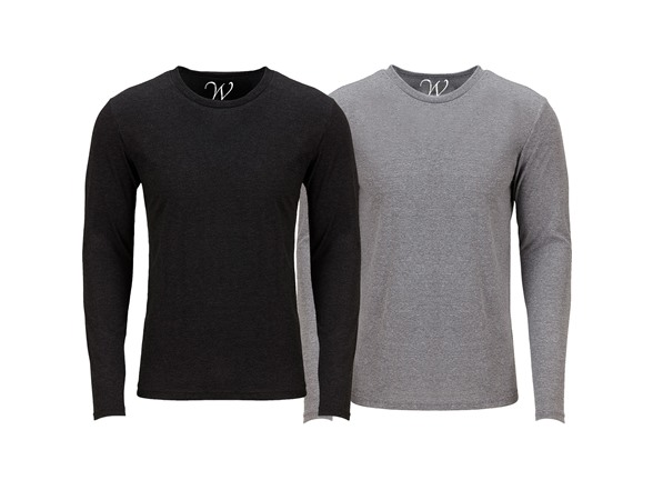 2-pack Ultra Soft Sueded Crew Neck