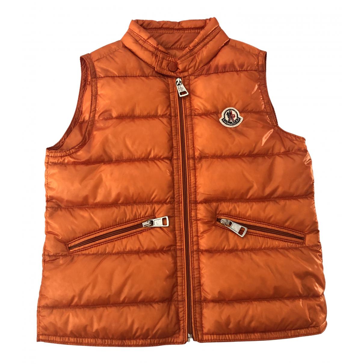 Moncler Sleeveless Orange jacket & coat for Kids 3 years - until 39 inches UK