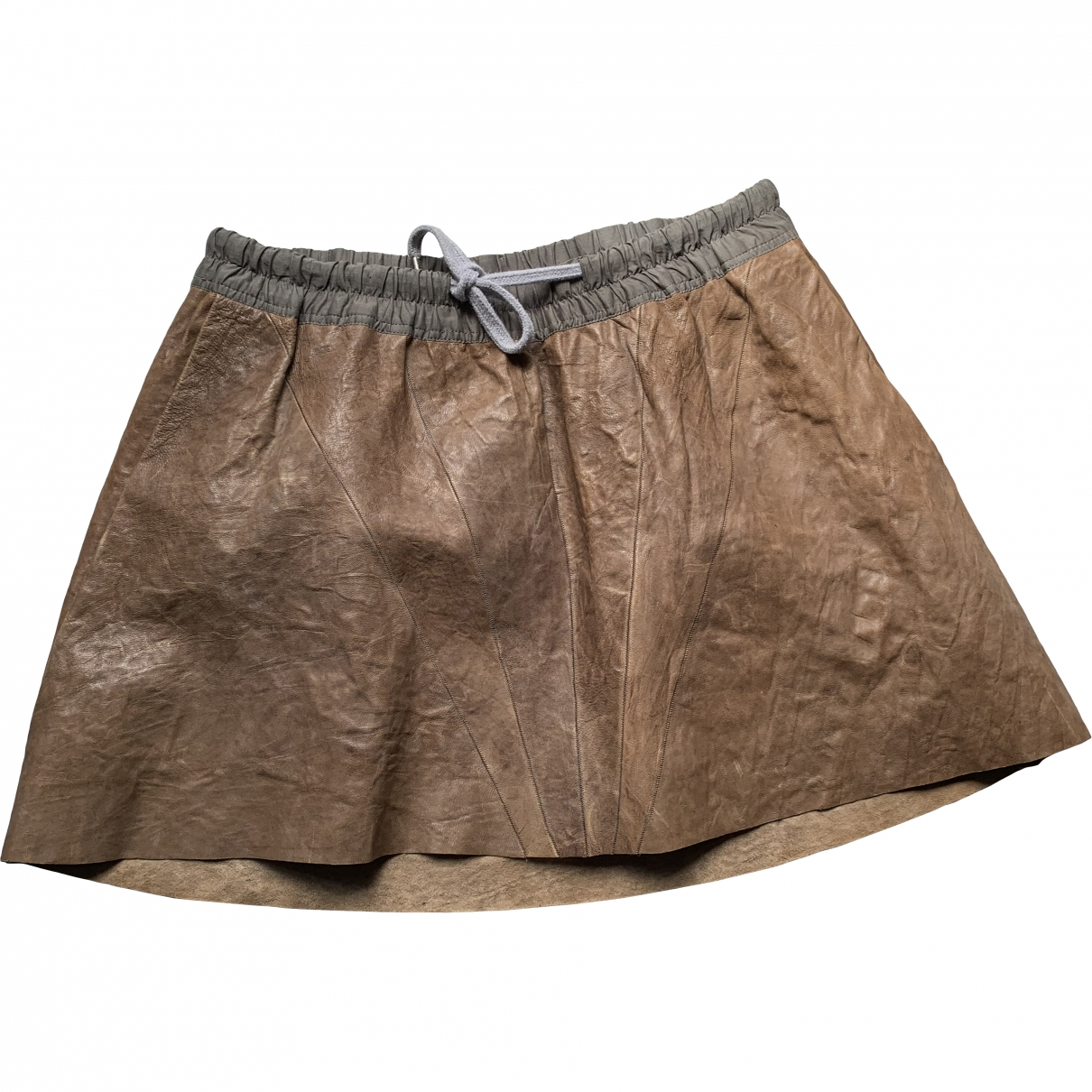 Rick Owens \N Brown Leather skirt for Women 42 IT