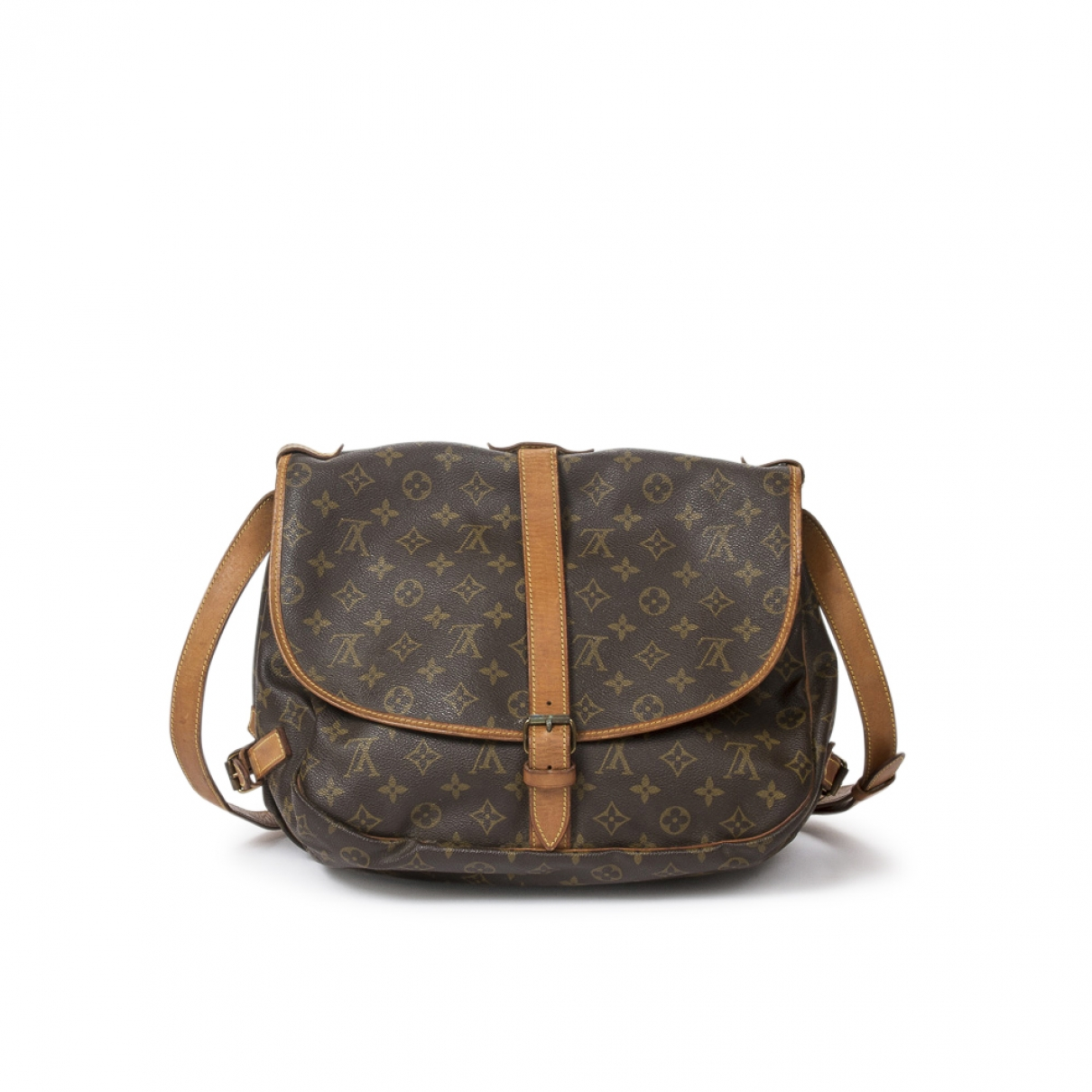 Louis Vuitton Saumur Brown Leather handbag for Women \N