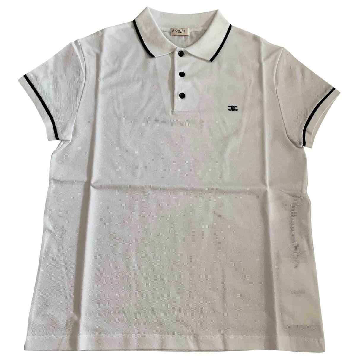 Celine \N White Cotton Polo shirts for Men M International