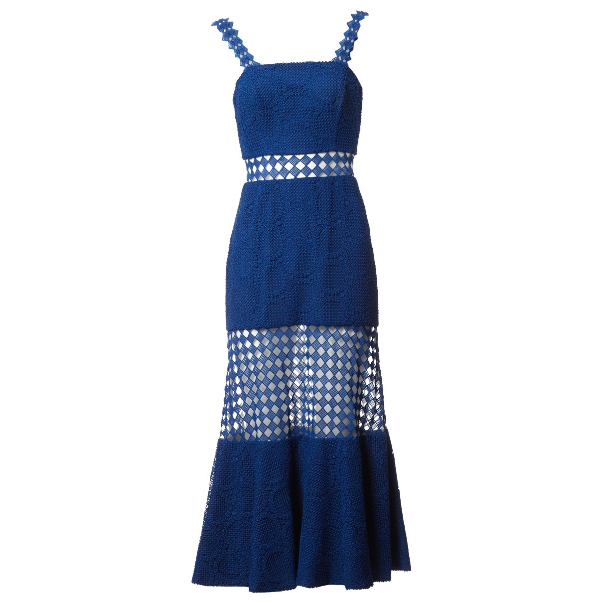 Costarellos - Robe   pour femme en coton - bleu