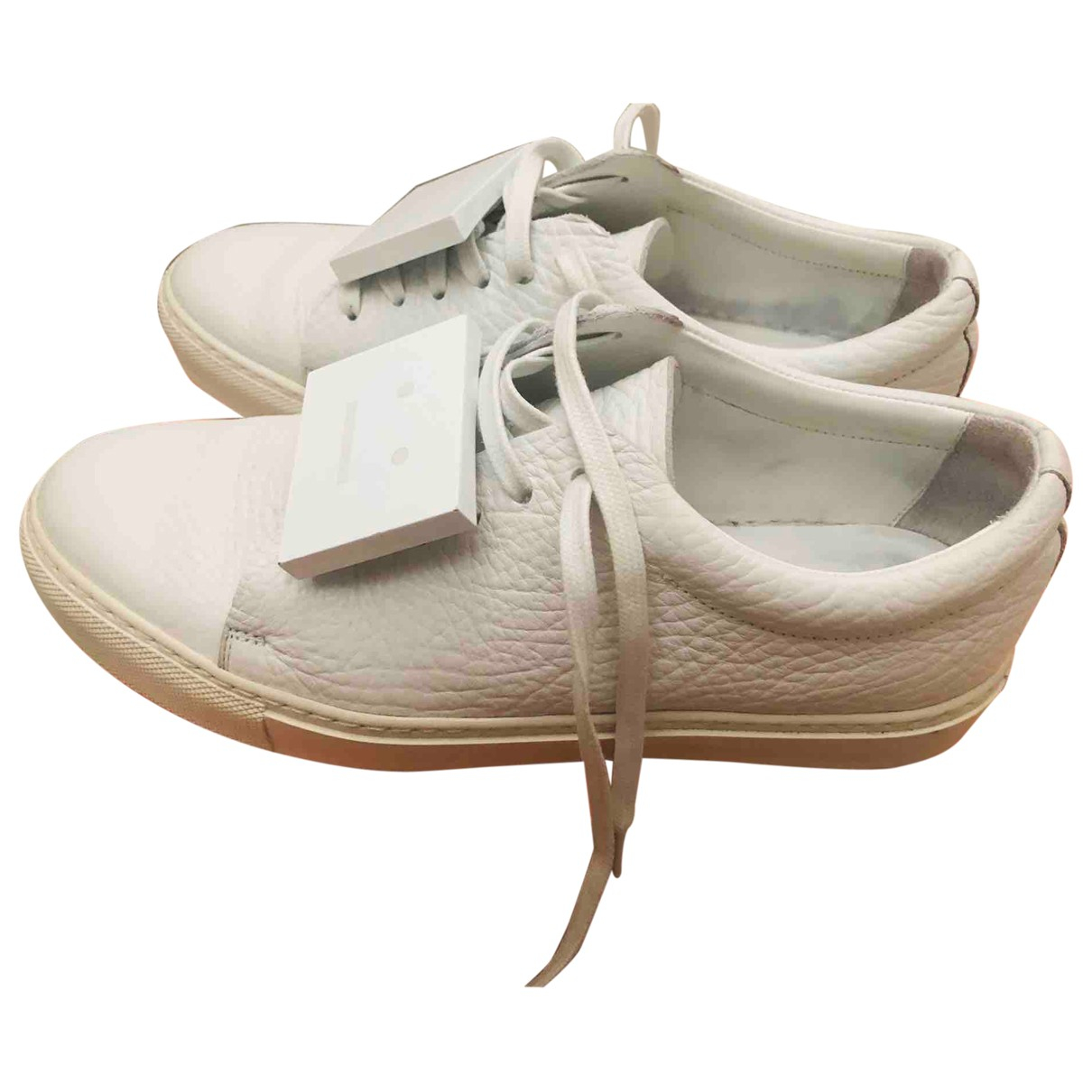 Acne Studios \N White Leather Trainers for Women 38 EU