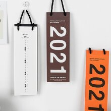 1pc Random 2021 Desk Calendar With 5pcs Sticker