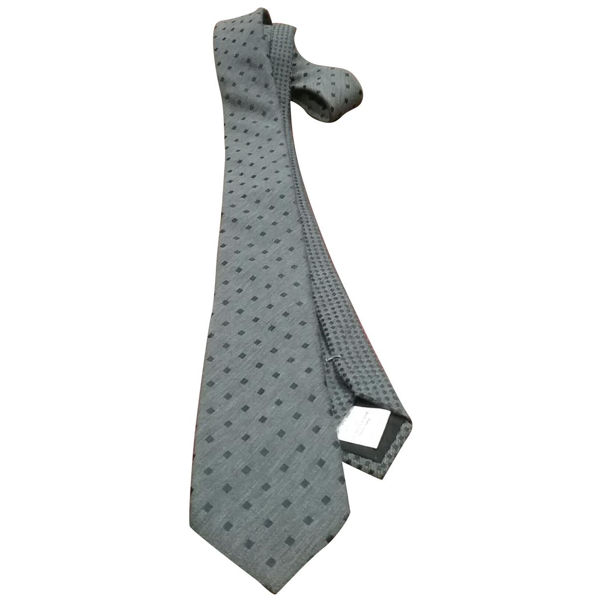 Valentino Garavani \N Grey Silk Ties for Men \N