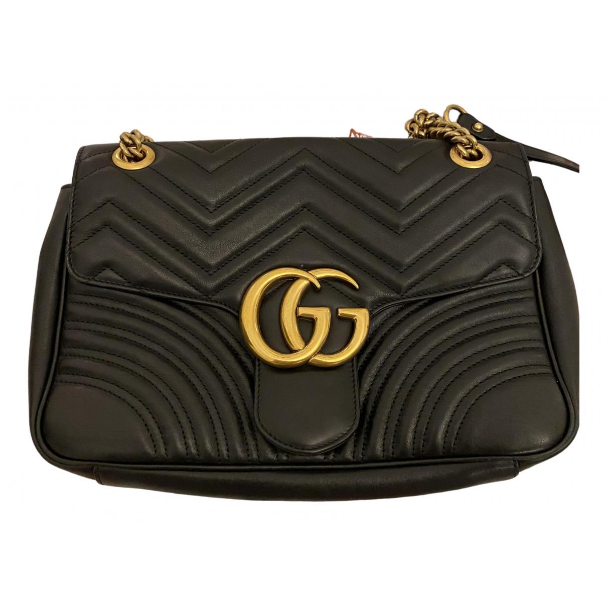 Gucci - Sac a main GG Marmont Circle pour femme en cuir - noir