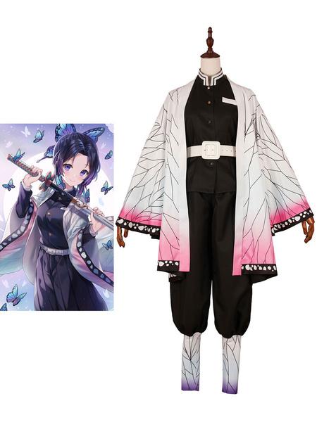 Milanoo Demon Slayer Kimetsu No Yaiba Kochou Shinobu Cosplay Costume