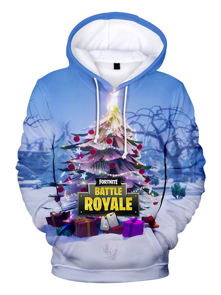 Milanoo Fortnite Costumes Christmas Hoodie For Adults Trendy Game Hoodie Halloween