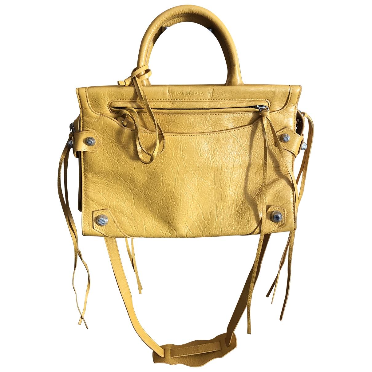 Balenciaga - Sac a main   pour femme en cuir - jaune