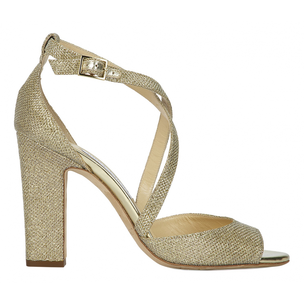 Jimmy Choo N Gold Leather Sandals for Women 6 UK