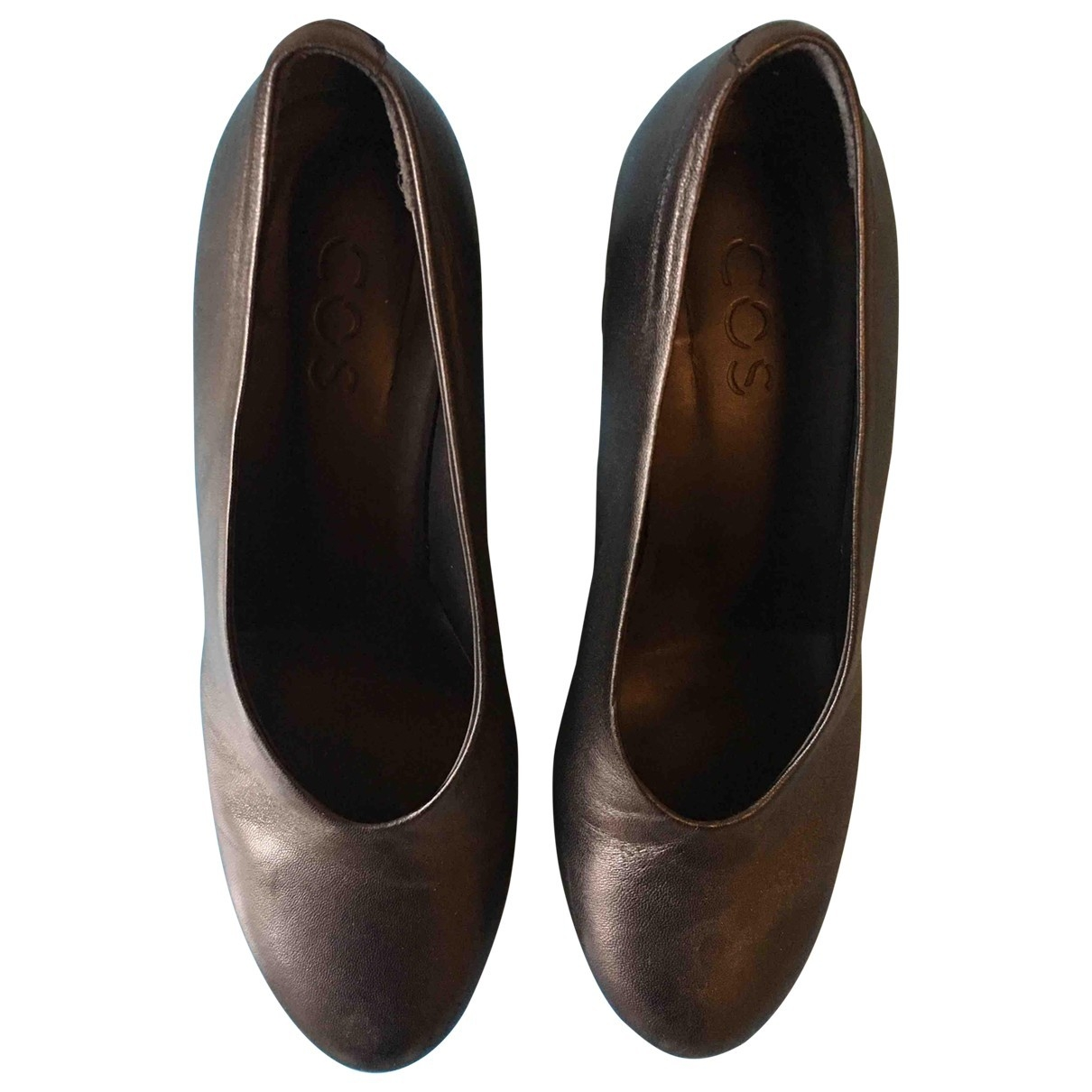 Cos \N Black Leather Heels for Women 39 EU