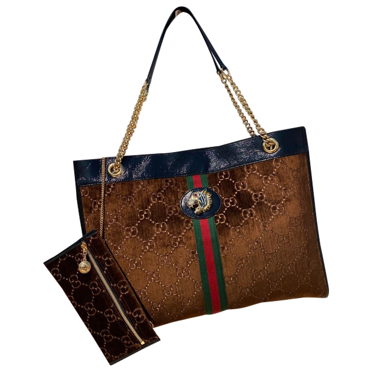Gucci Rajah Brown Velvet handbag for Women \N