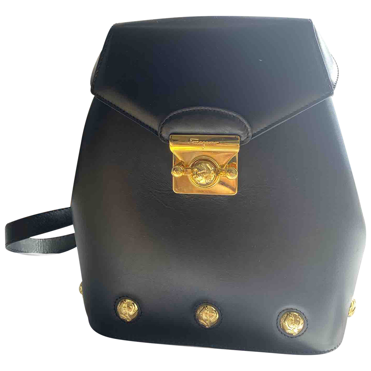 Salvatore Ferragamo N Black Leather backpack for Women N
