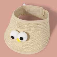 Toddler Girls Eye Decor Visor Hat