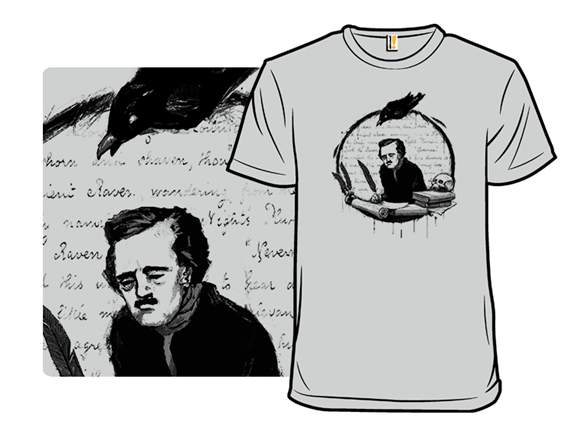 A Raven And His Writer T Shirt