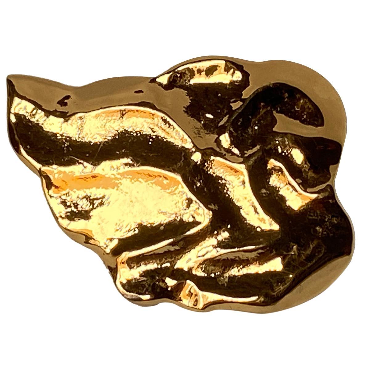 Yves Saint Laurent Arty Brosche in  Gold Vergoldet