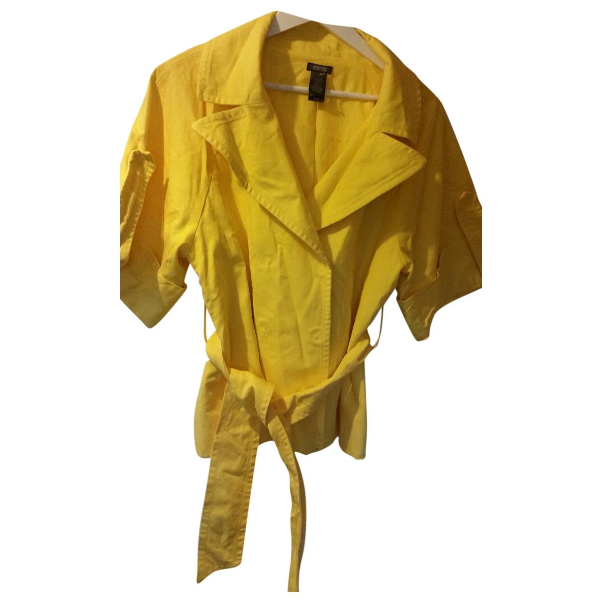 Kenneth Cole \N Jacke in  Gelb Baumwolle