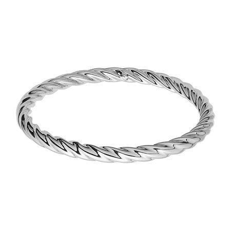 Sterling Silver Bangle Bracelet, One Size , No Color Family