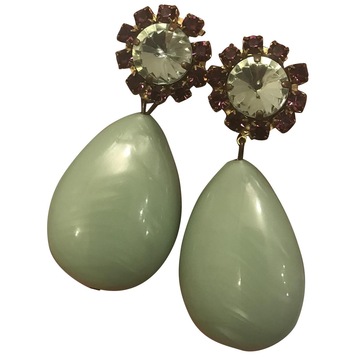 - Boucles doreilles   pour femme - vert
