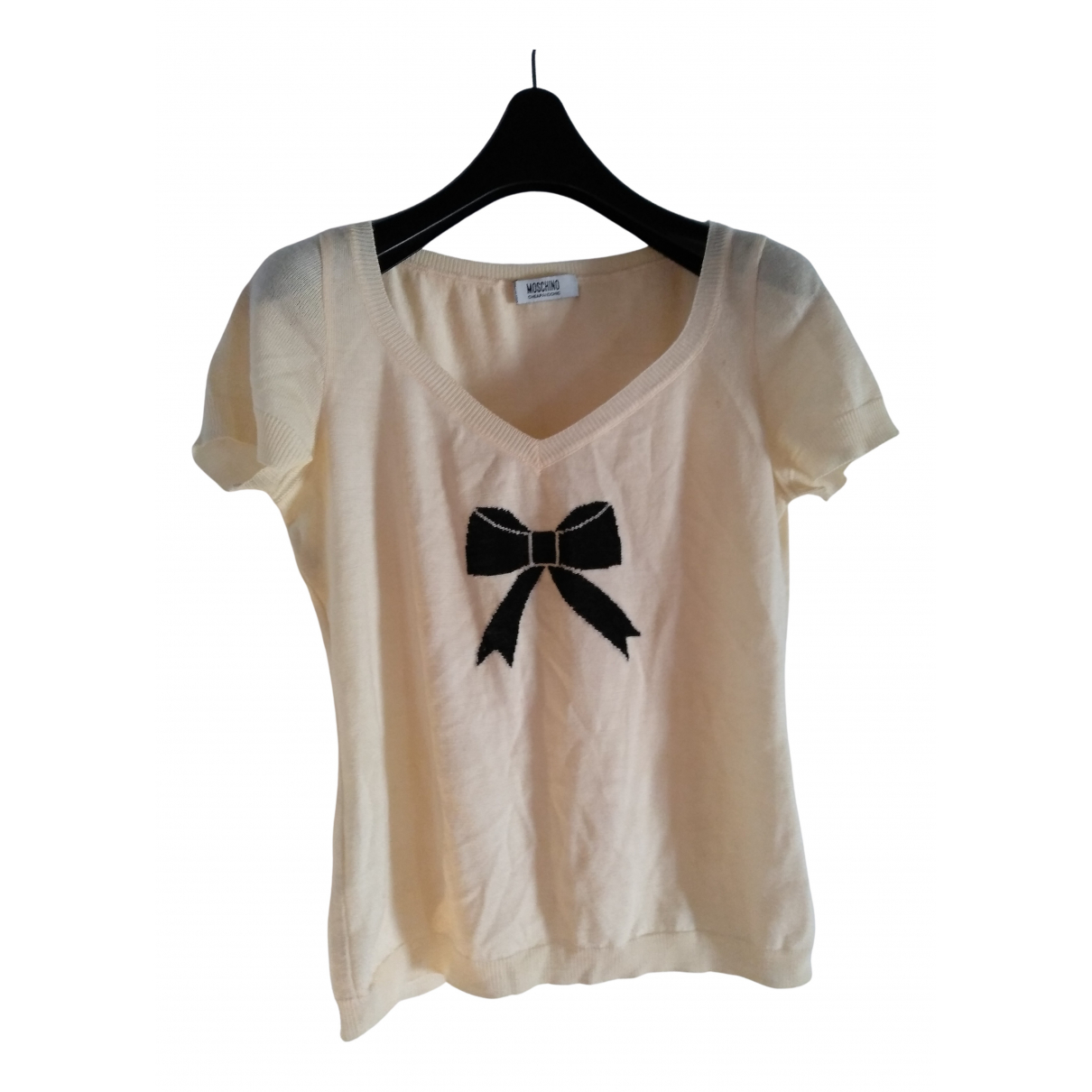 Moschino Cheap And Chic - Top   pour femme en laine - blanc