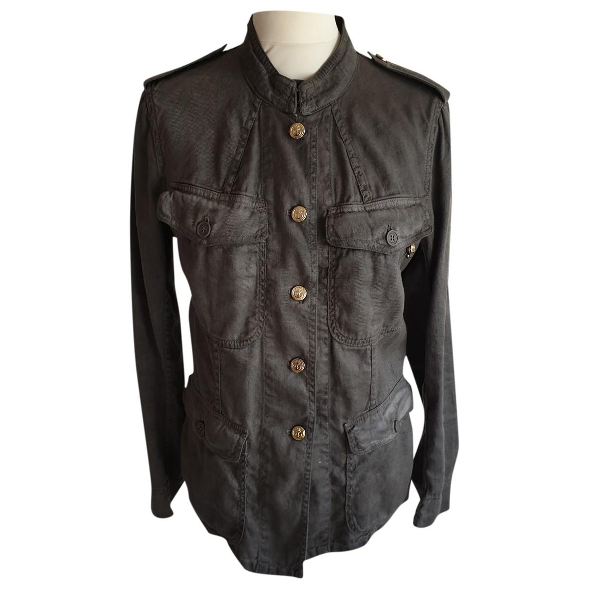 Dondup \N Khaki Linen jacket for Women 44 IT