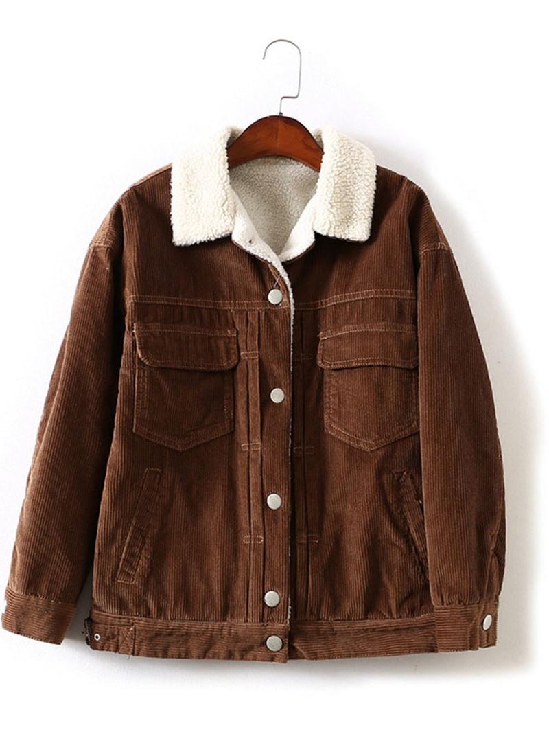 Ericdress Single-Breasted Loose Lapel Standard Jacket