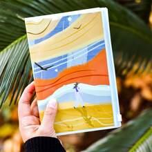 1 Stueck Notizbuch mit zufaelligem Muster
