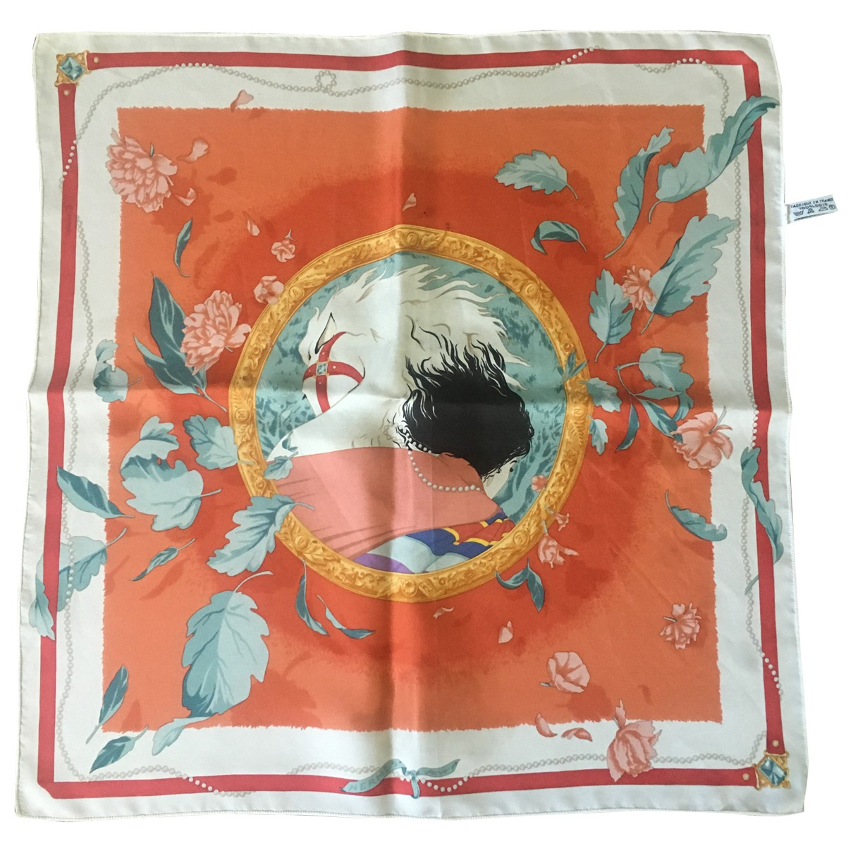 Hermes Gavroche 45 Schal in  Rot Seide