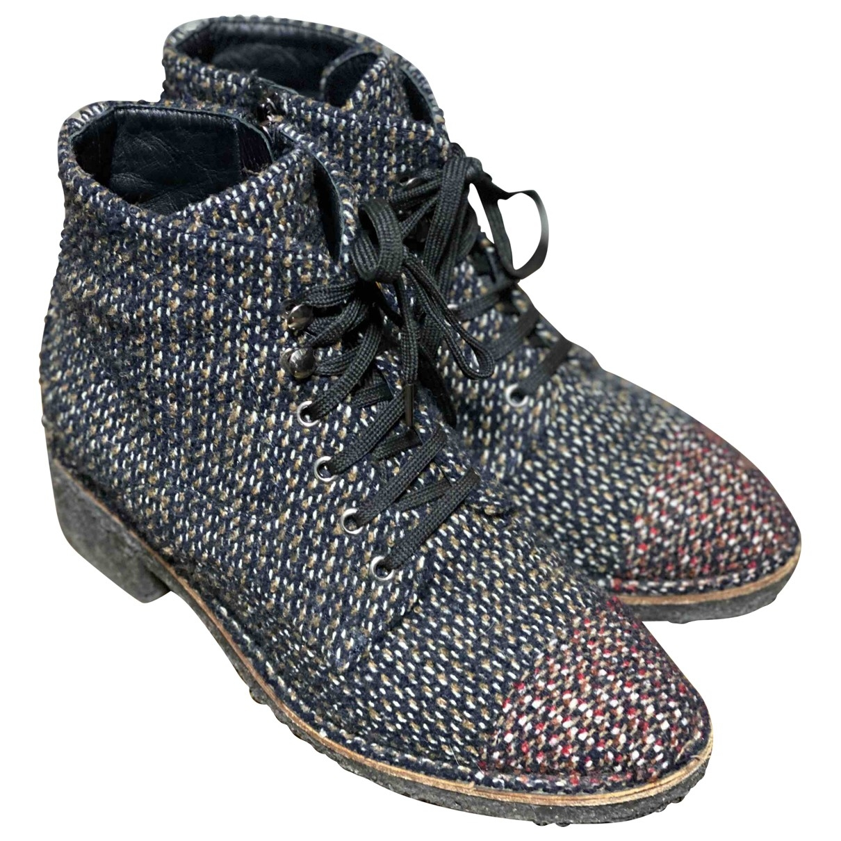 Chanel \N Grey Tweed Ankle boots for Women 41 EU