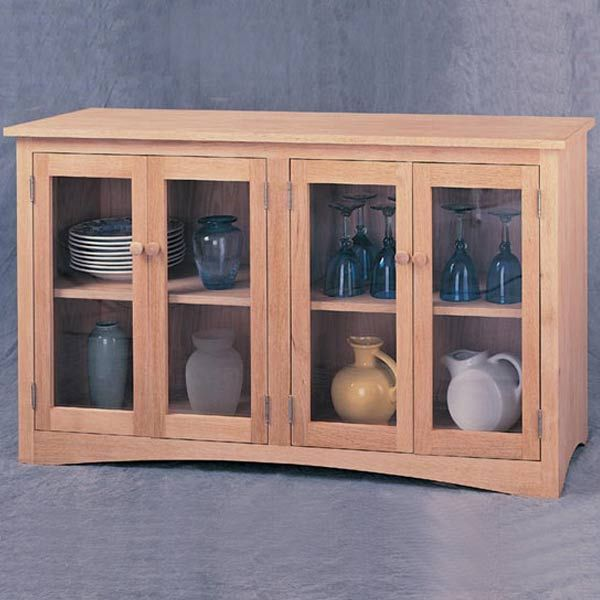 Woodworking Project Paper Plan to Build China Sideboard, Plan No. 927