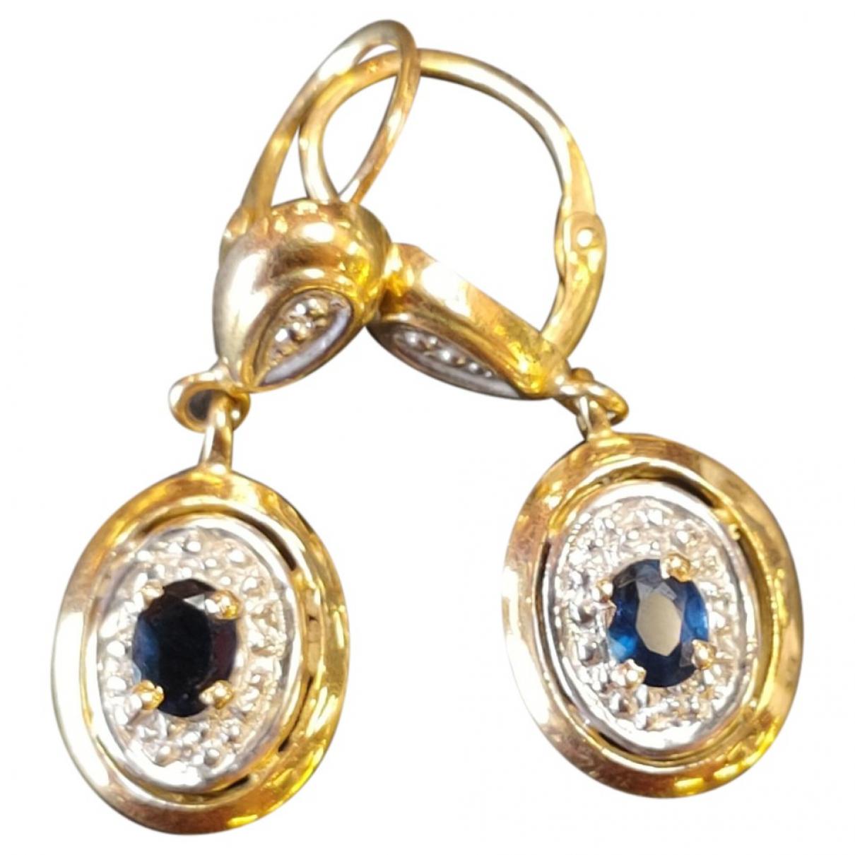 - Boucles doreilles   pour femme en or jaune - dore