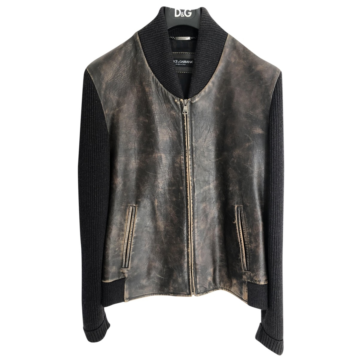 Dolce & Gabbana \N Brown Leather jacket  for Men 50 IT