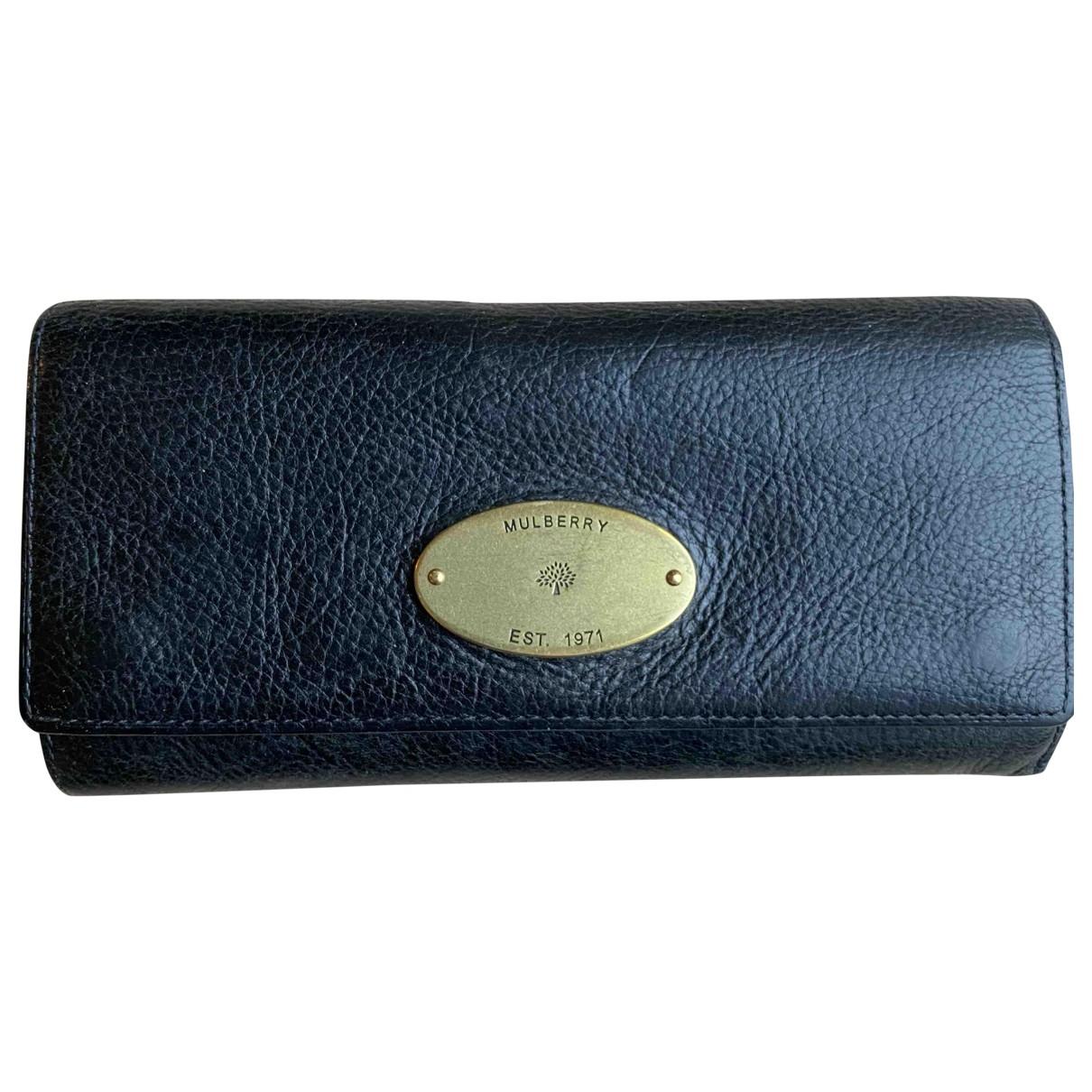 Mulberry \N Portemonnaie in  Schwarz Leder