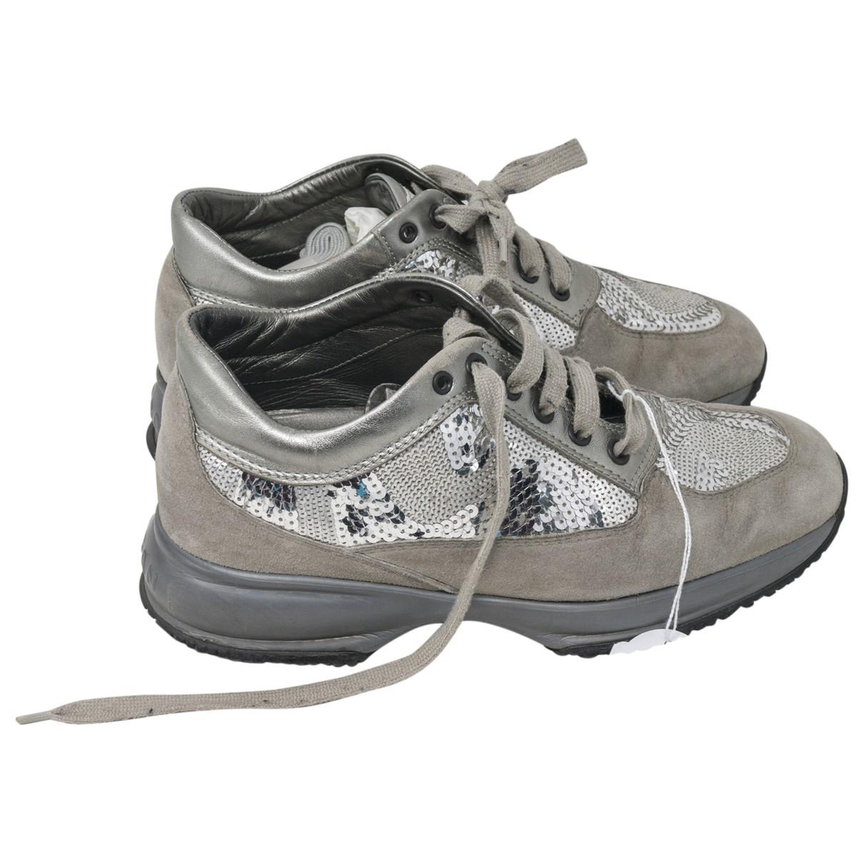 Hogan \N Sneakers in  Silber Mit Pailletten
