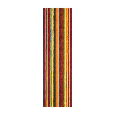 Safavieh Himalaya Collection Adolf Striped Runner Rug, One Size , Multiple Colors