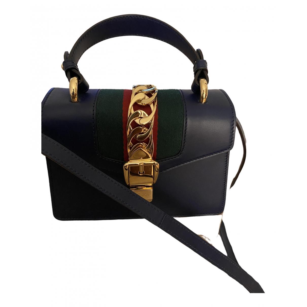 Gucci Sylvie Blue Leather handbag for Women \N