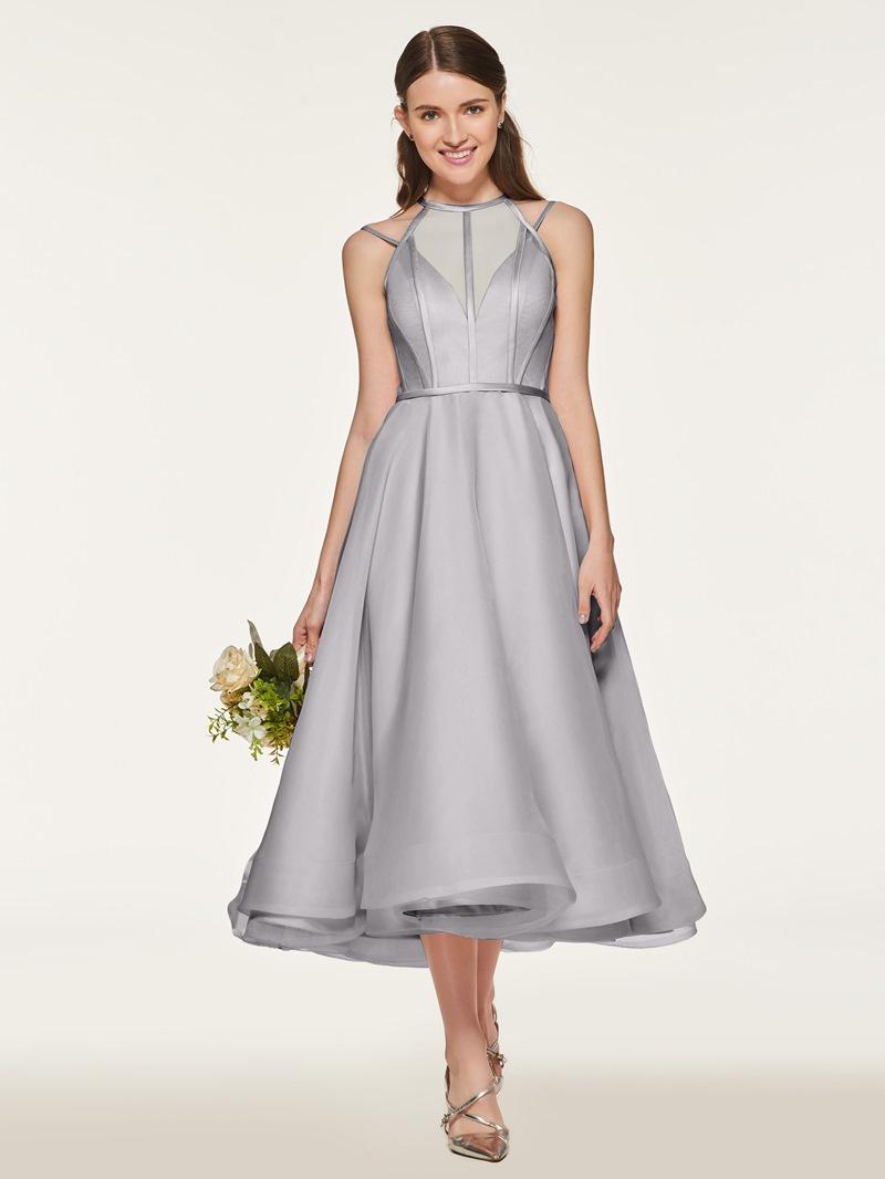 Ericdress Straps Tea Length Bridesmaid Dress