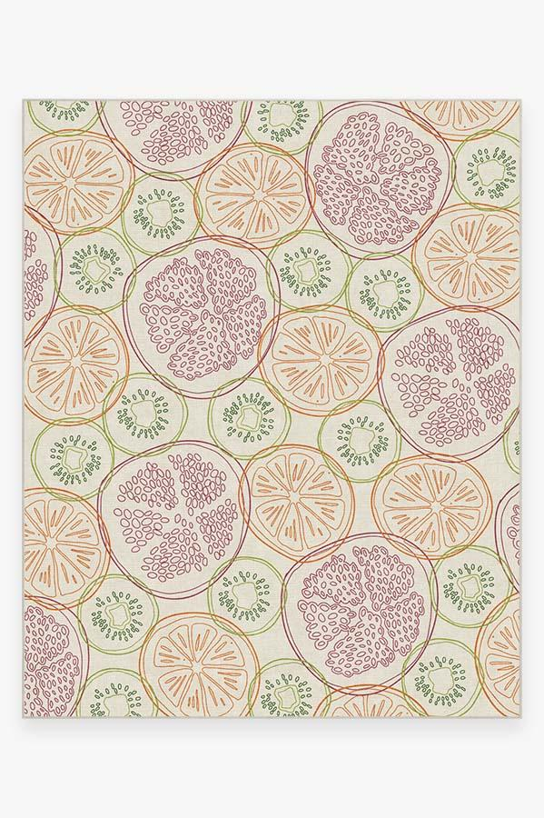 Washable Rug Cover   Fruit Punch Multicolor Rug   Stain-Resistant   Ruggable   8x10