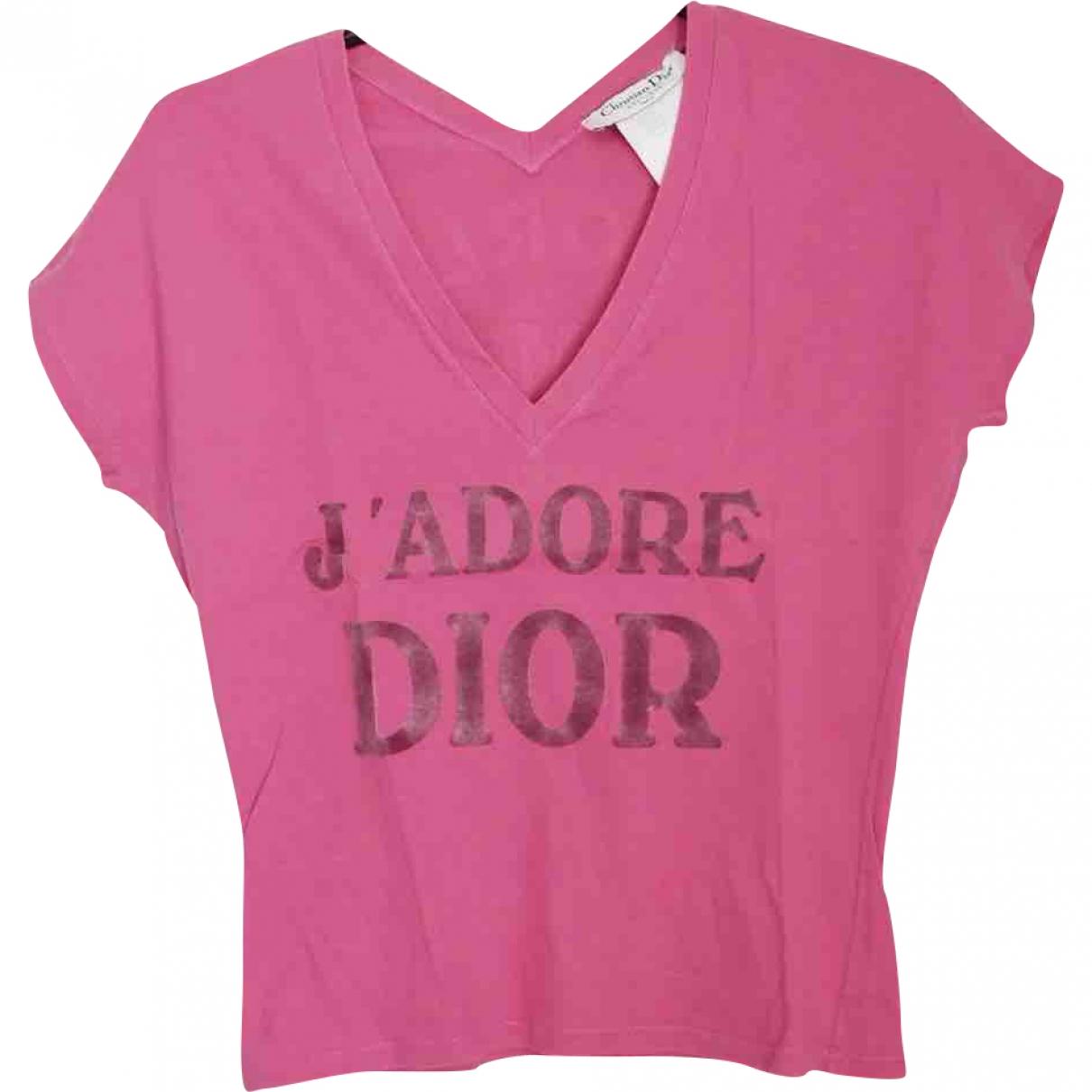 Dior - Top   pour femme en coton - rose