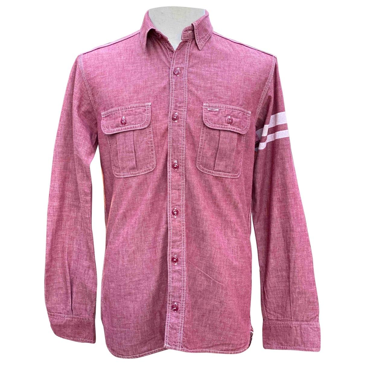 Momotaro \N Red Cotton Shirts for Men 42 EU (tour de cou / collar)
