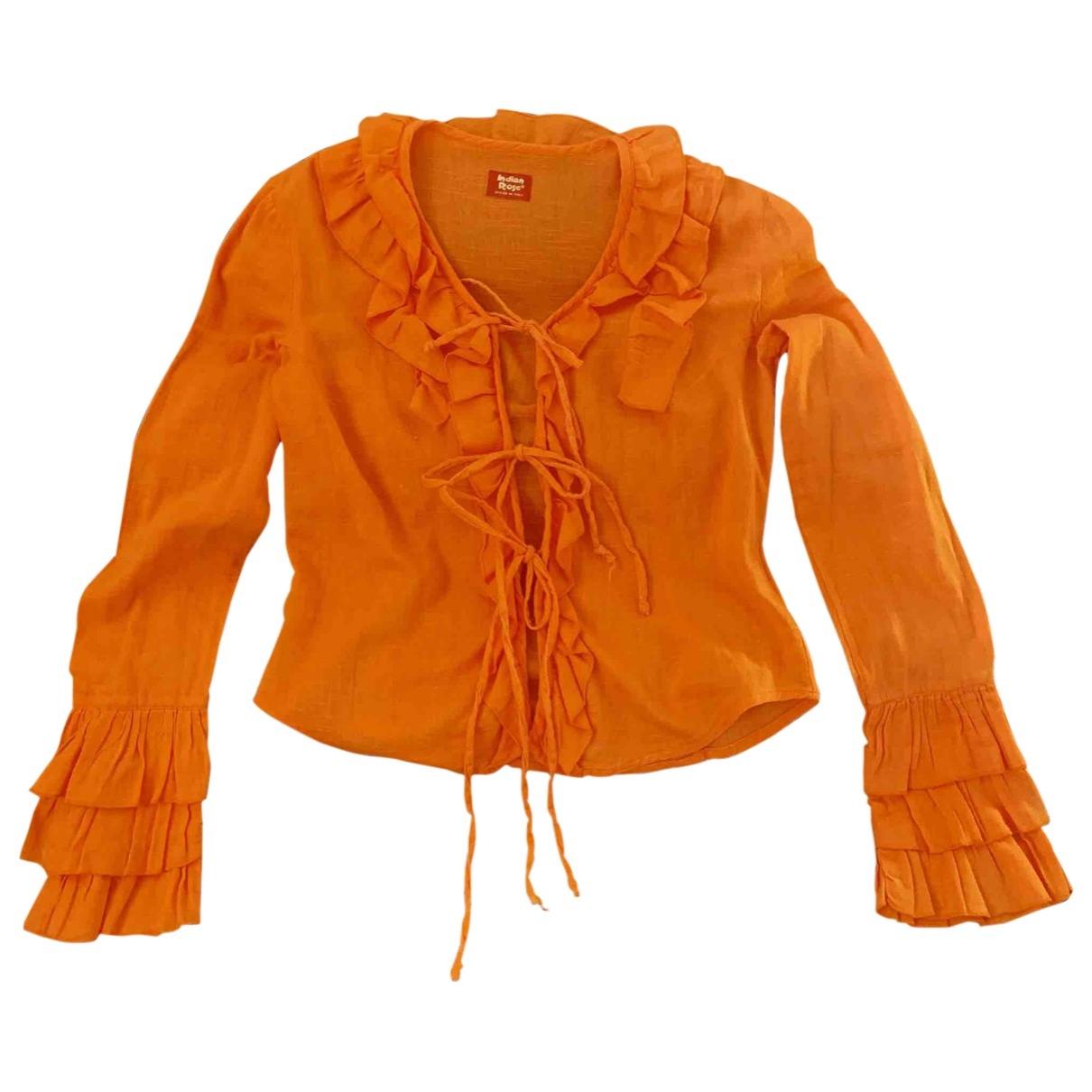 - Top   pour femme en coton - orange