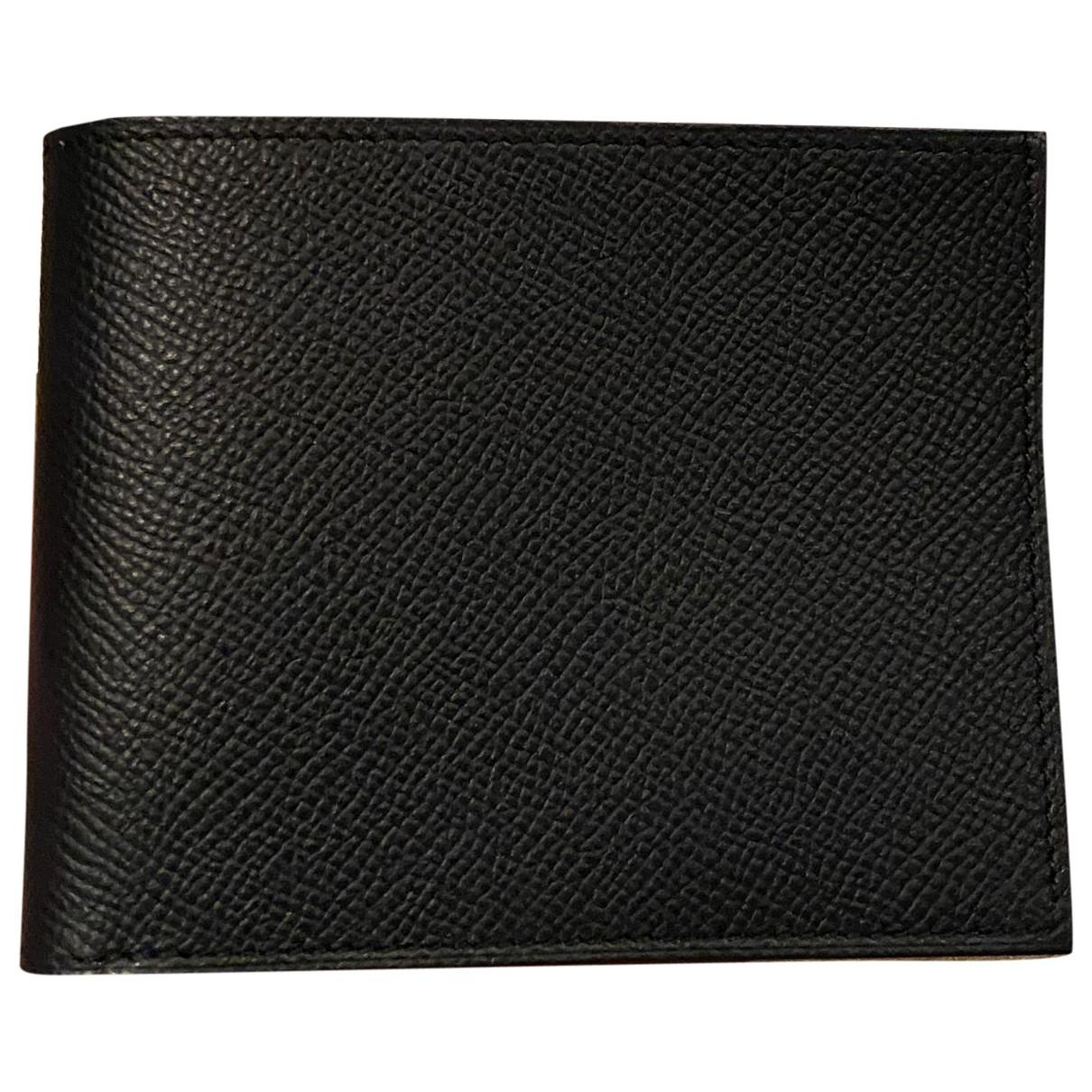Hermes Silkin Portemonnaie in  Gruen Leder