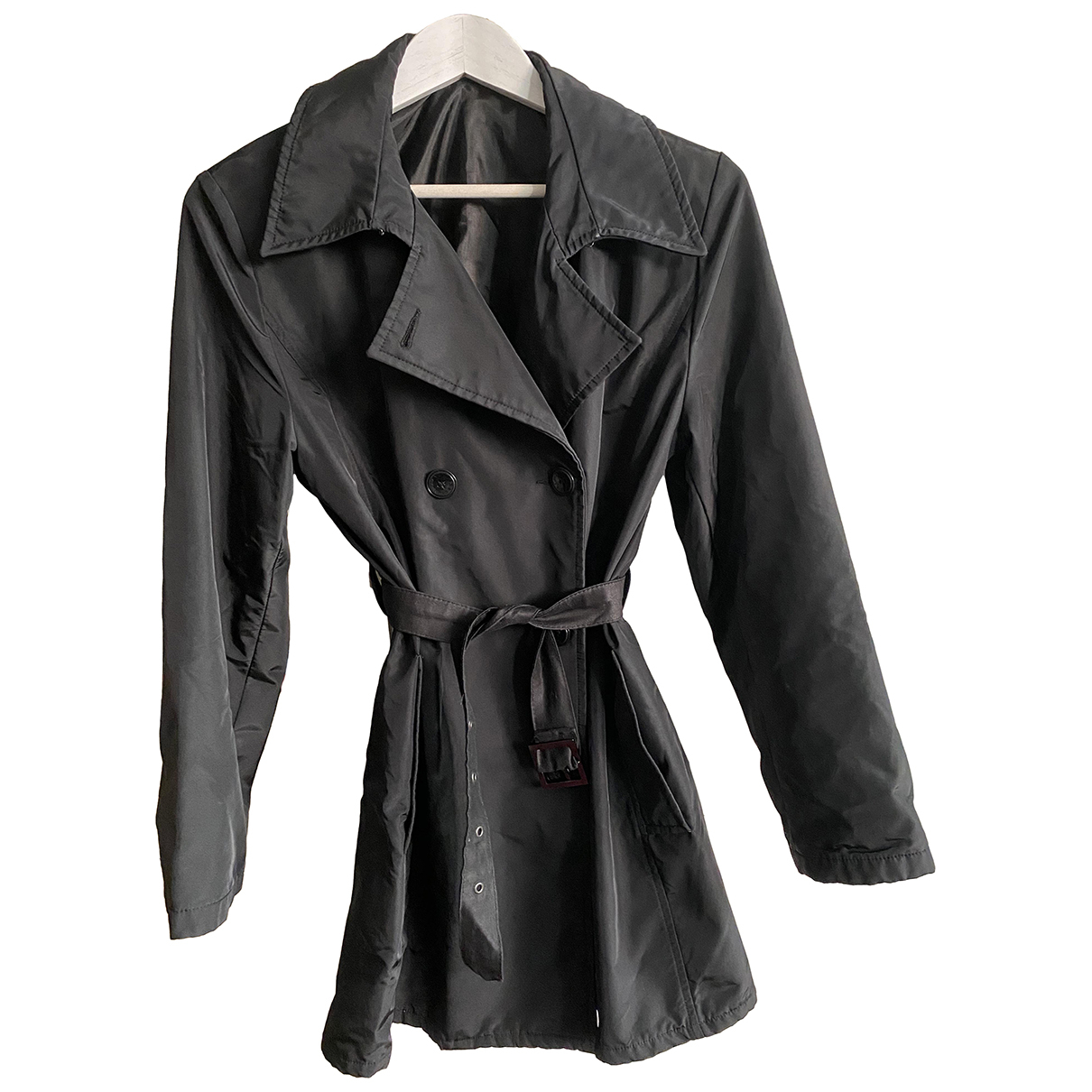 Max & Co N Black Trench coat for Women 44 IT