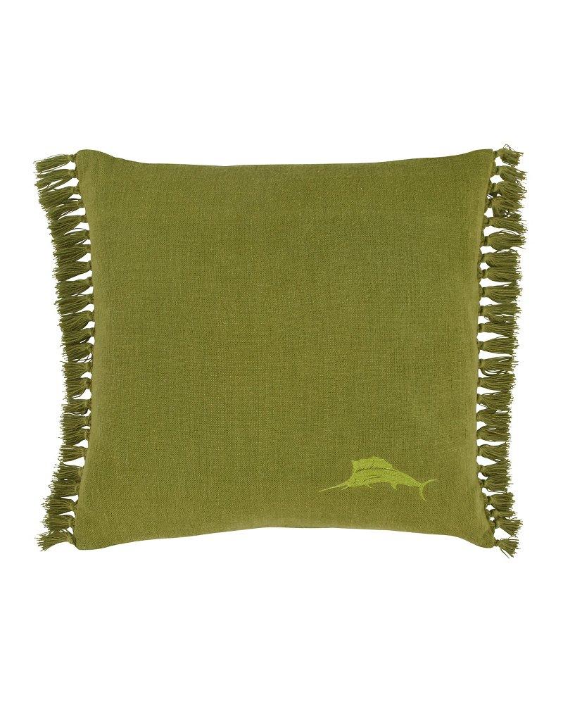 Canvas Fringe Throw Pillow