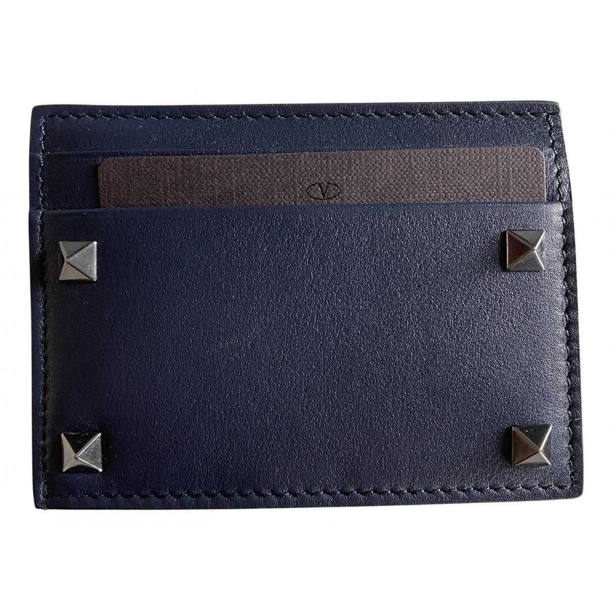 Valentino Garavani N Blue Leather Small bag, wallet & cases for Men N