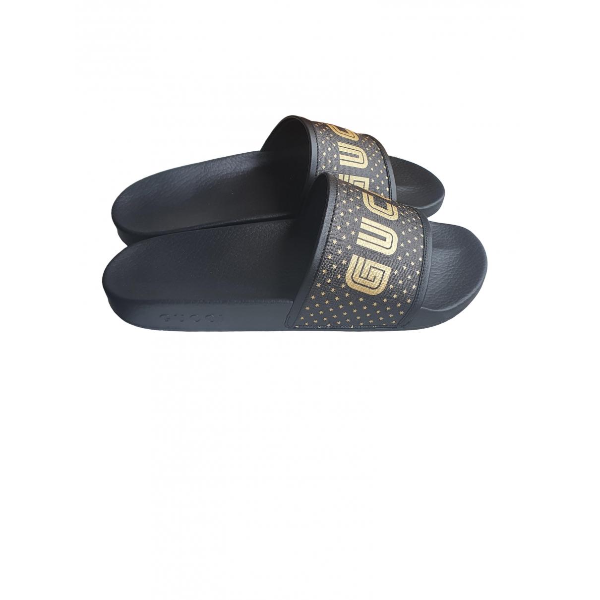 Gucci \N Sandalen in  Schwarz Leinen