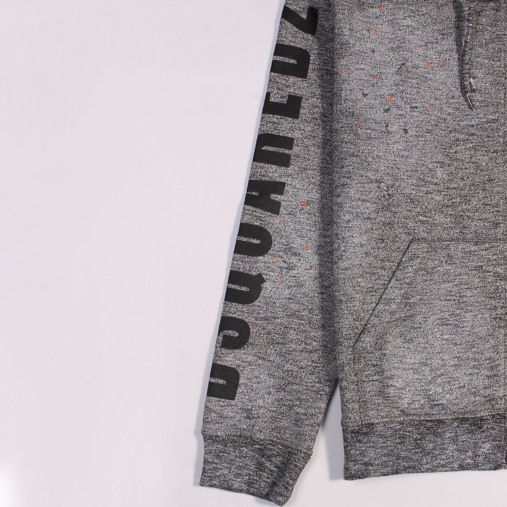Dsquared2 Logo Print Hoodie Grey Colour: GREY, Size: LARGE