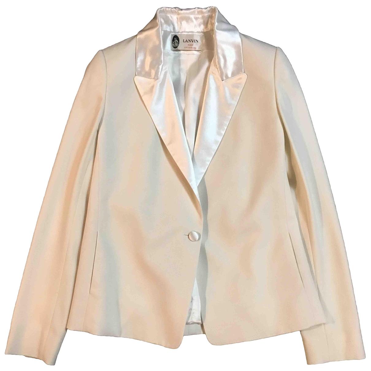Lanvin \N White Wool jacket for Women 38 FR